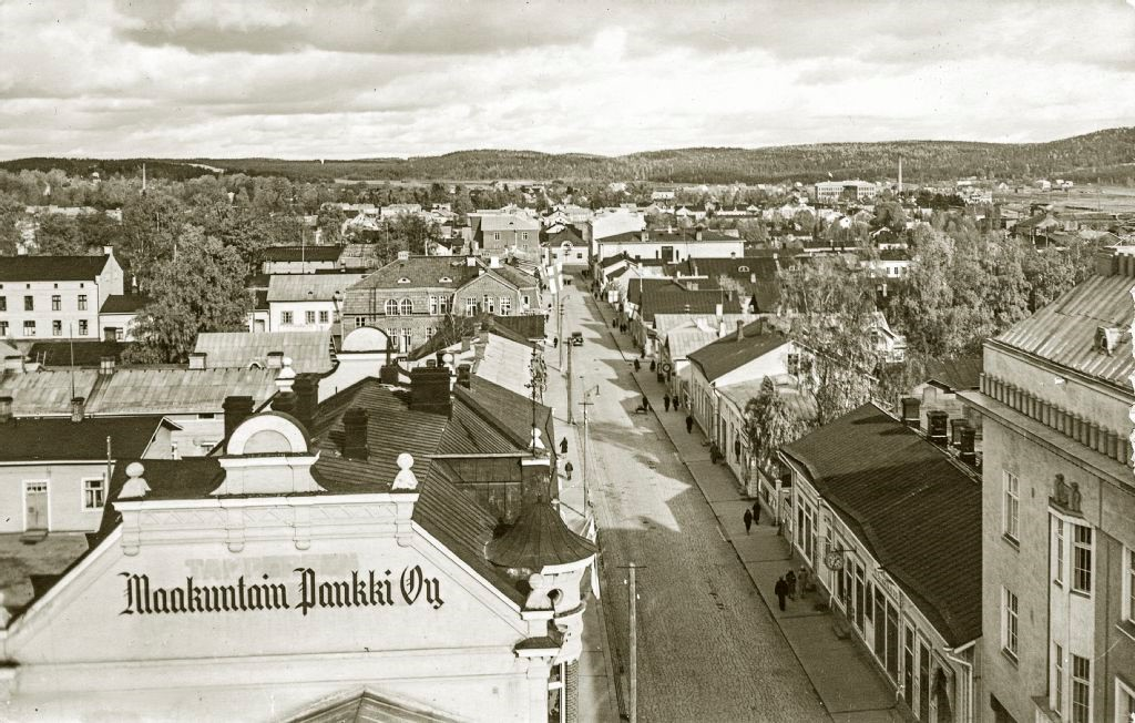 Ilmakuva Jyväskylän Kauppakadulta 1930-1939
