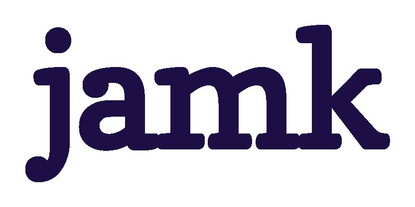 Jyväskylän ammattikorkeakoulun tummanvioletti logo